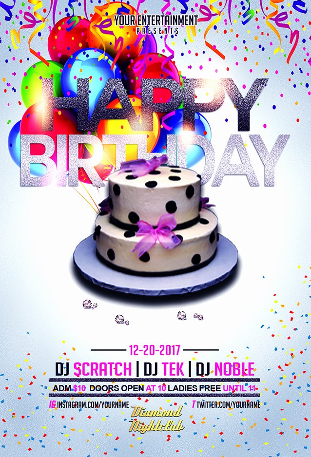 Birthday Flyer Template Free Best Of Happy Birthday Flyer Template