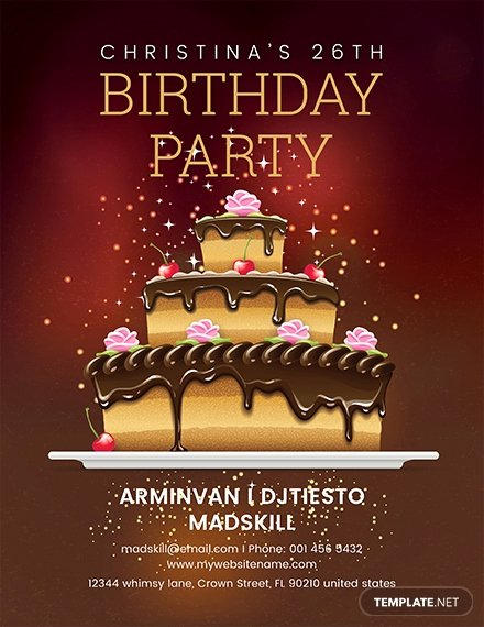 Birthday Flyer Template Free Elegant Free Employee Bbq Party Flyer Template Download 416