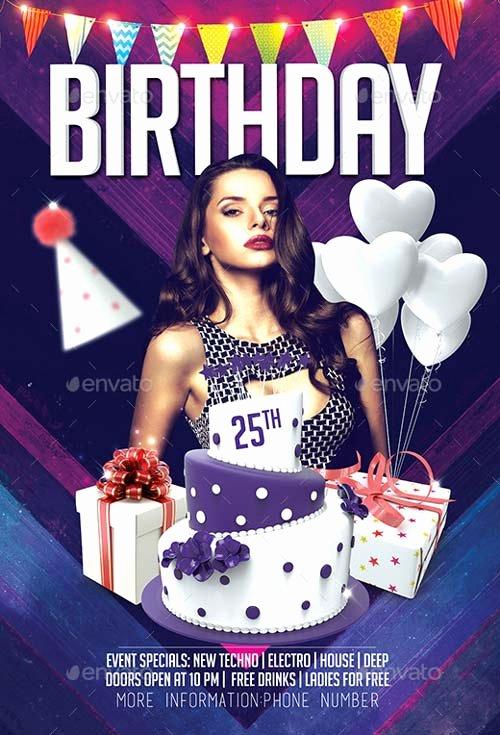 Birthday Flyer Template Free Fresh Best Of Birthday Flyer Templates Free and Premium Flyer