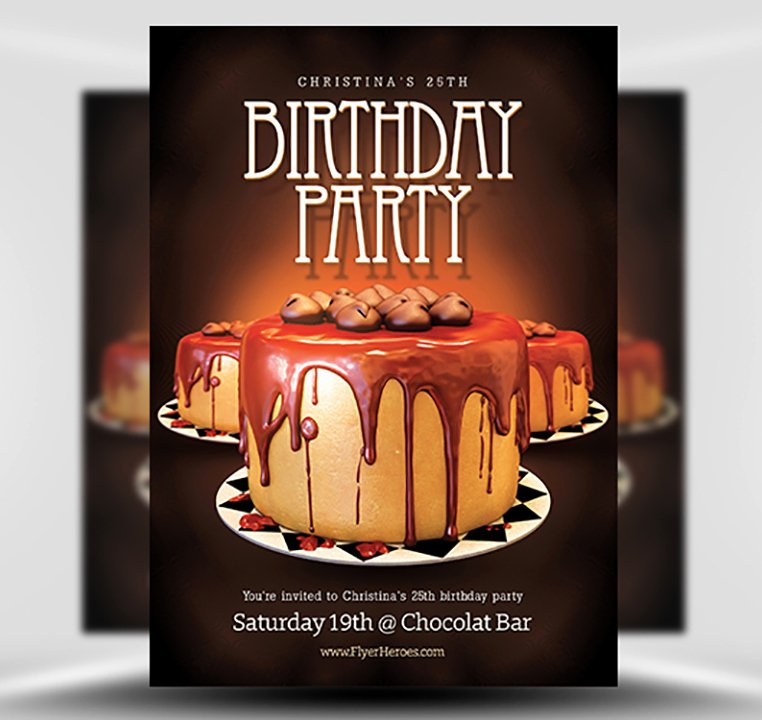 Birthday Flyer Template Free Fresh Birthday Flyer Template Flyerheroes
