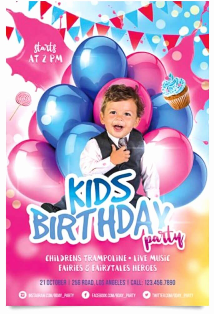 Birthday Flyer Template Free Lovely 15 Free Birthday Party Flyer Templates Tech Trainee