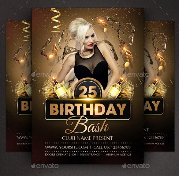 Birthday Flyer Template Free Lovely 19 Amazing Birthday Party Psd Flyer Templates In Word