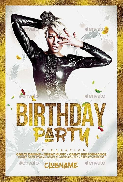 Birthday Flyer Template Free Luxury Best Of Birthday Flyer Templates Free and Premium Flyer