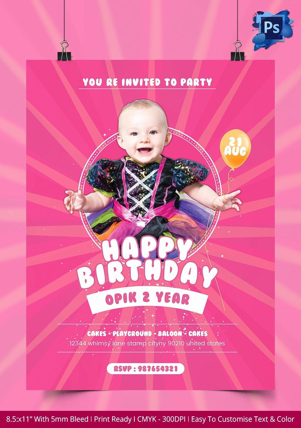Birthday Flyer Template Free Luxury Birthday Flyer Template – 37 Free Psd Ai Vector Eps