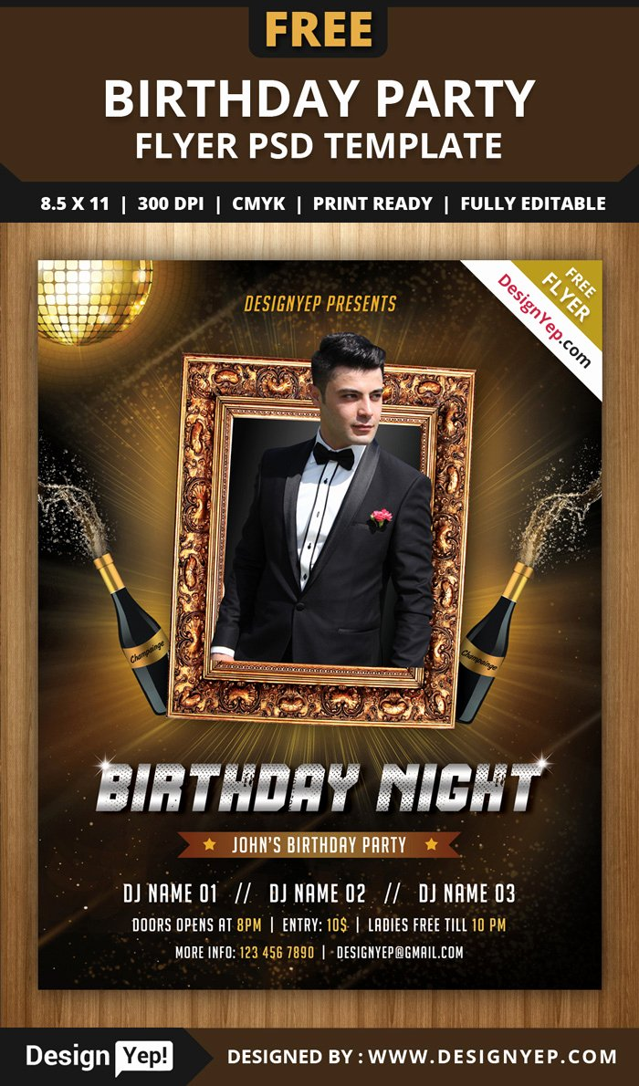 Birthday Flyer Template Free New 55 Free Party & event Flyer Psd Templates Designyep