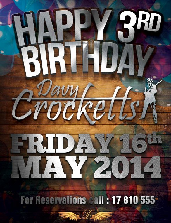 Birthday Flyer Template Free Unique 34 Birthday Flyer Templates Word Psd Ai Indesign