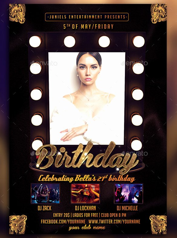 Birthday Flyer Template Free Unique 43 Birthday Flyer Templates Word Psd Ai Vector Eps