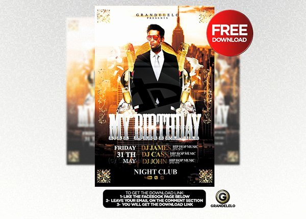 Birthday Flyer Template Free Unique 90 Awesome Free Flyer Templates Psd