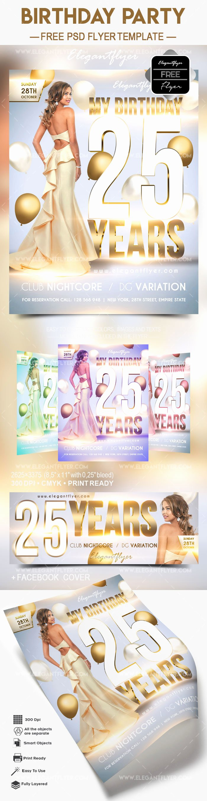 Birthday Flyer Template Free Unique Free Birthday Party 2017 – Flyer Psd Template – by