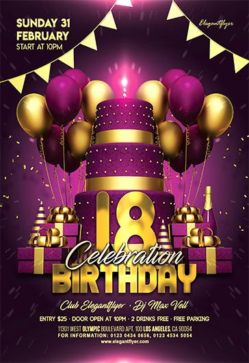 Birthday Flyer Template Free Unique Free Psd Flyers Templates for event Club Party and