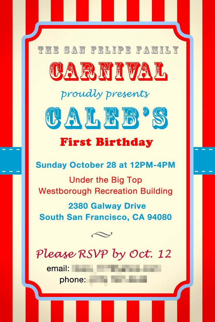 Birthday Flyer Template Word Awesome Circus Invitation Templates for School