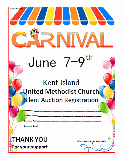 Birthday Flyer Template Word Awesome Microsoft Word Carnival Flyer Template