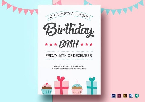 Birthday Flyer Template Word Beautiful 18 Ms Word format Birthday Templates Free Download