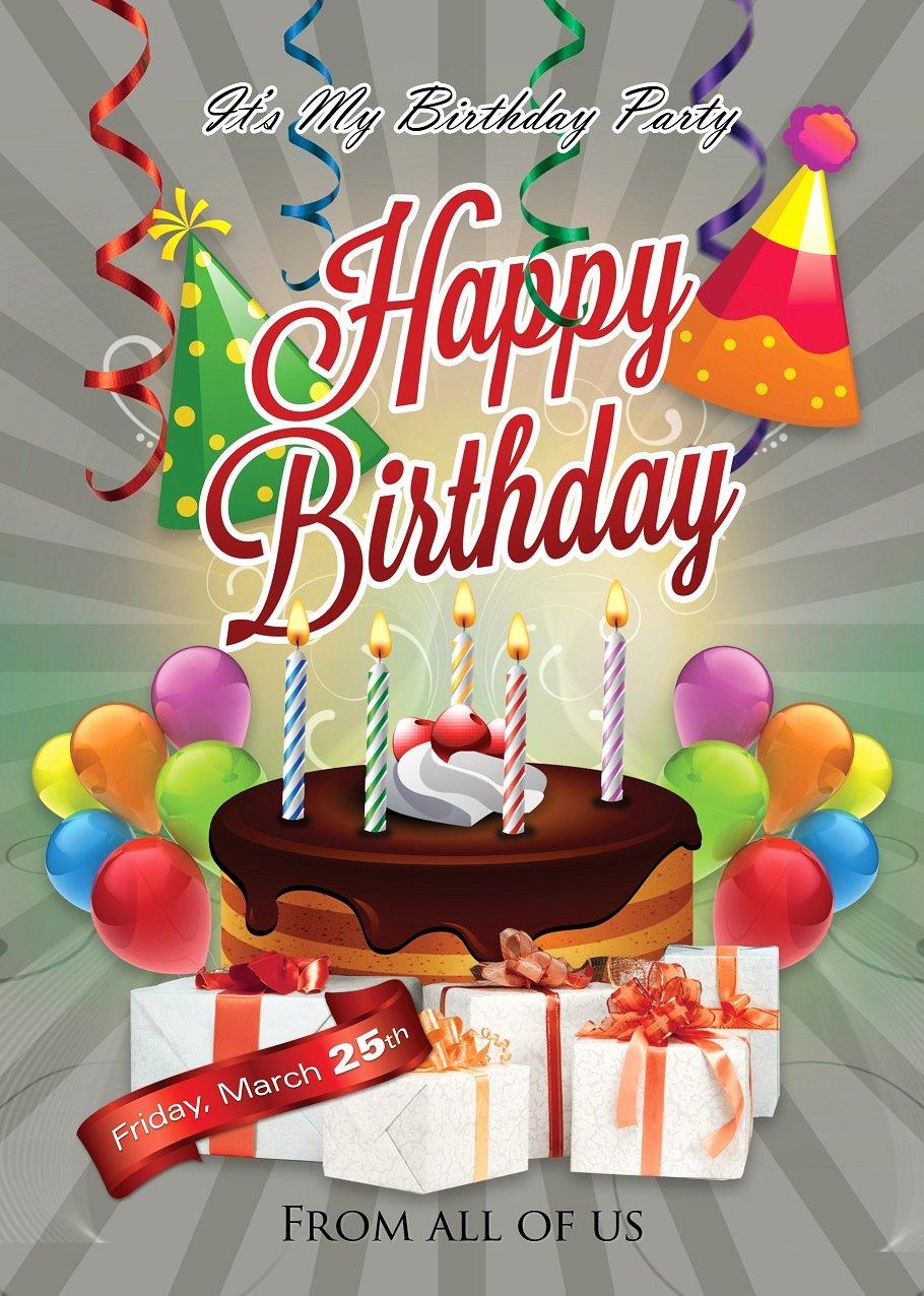 happy birthday flyer design
