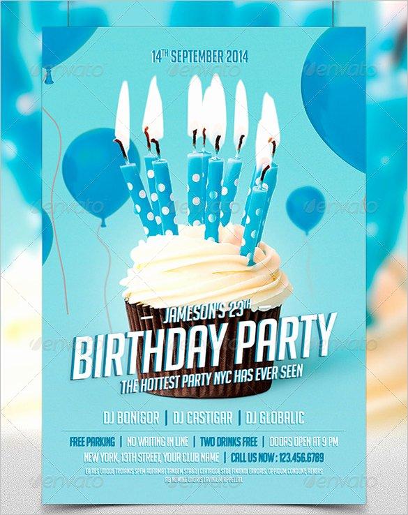 Birthday Flyer Template Word Elegant 19 Amazing Birthday Party Psd Flyer Templates In Word