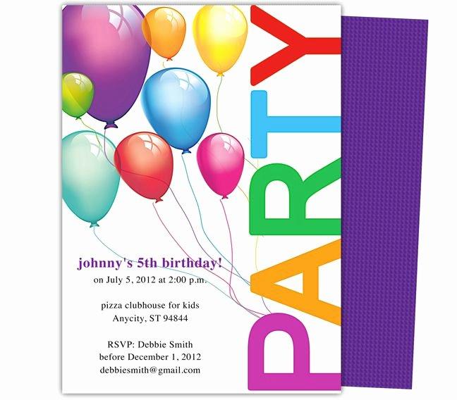 Birthday Flyer Template Word Elegant Happy Birthday Invitation Templates