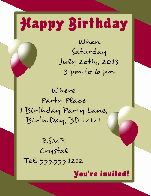 Birthday Flyer Template Word Lovely Happy Birthday Flyer Template R View