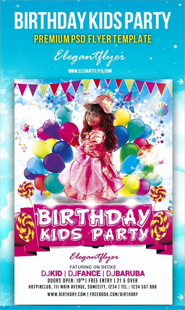 Birthday Flyer Template Word Luxury 17 Amazing Sample Birthday Flyer Templates to Download