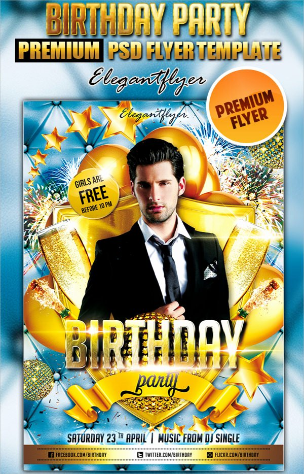 Birthday Flyer Template Word New 17 Amazing Sample Birthday Flyer Templates to Download