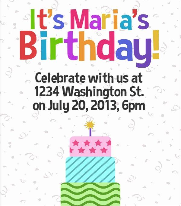 Birthday Flyer Template Word Unique 17 Amazing Sample Birthday Flyer Templates to Download