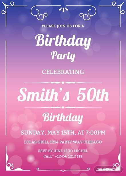 Birthday Invitation Template Photoshop Beautiful 60th Birthday Invitation Template In Adobe Shop