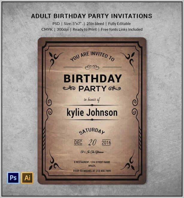 Birthday Invitation Template Photoshop Fresh Birthday Party Invitation Template Shop Template