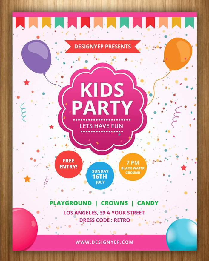 Birthday Invitation Template Photoshop Fresh Free Birthday Party Invitation Templates Shop – Best