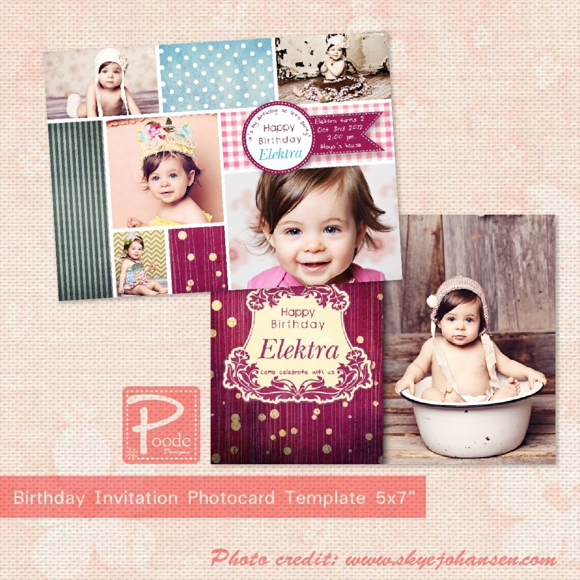 Birthday Invitation Template Photoshop Lovely Invitation Templates Psd Free