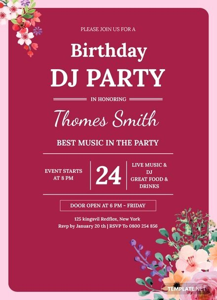 Birthday Invitation Template Photoshop Luxury 60th Birthday Invitation Template In Adobe Shop