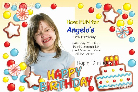 Birthday Invitation Template Photoshop New Fine Birthday Invitation Card Template Shop 7 S