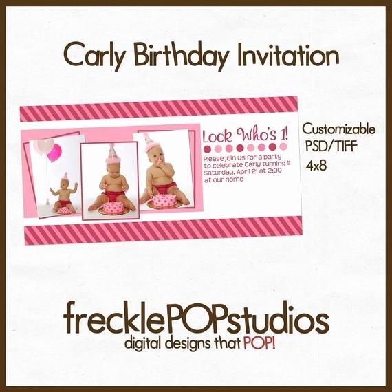Birthday Invitation Template Photoshop Unique Items Similar to 4x8 Birthday Invitation Template