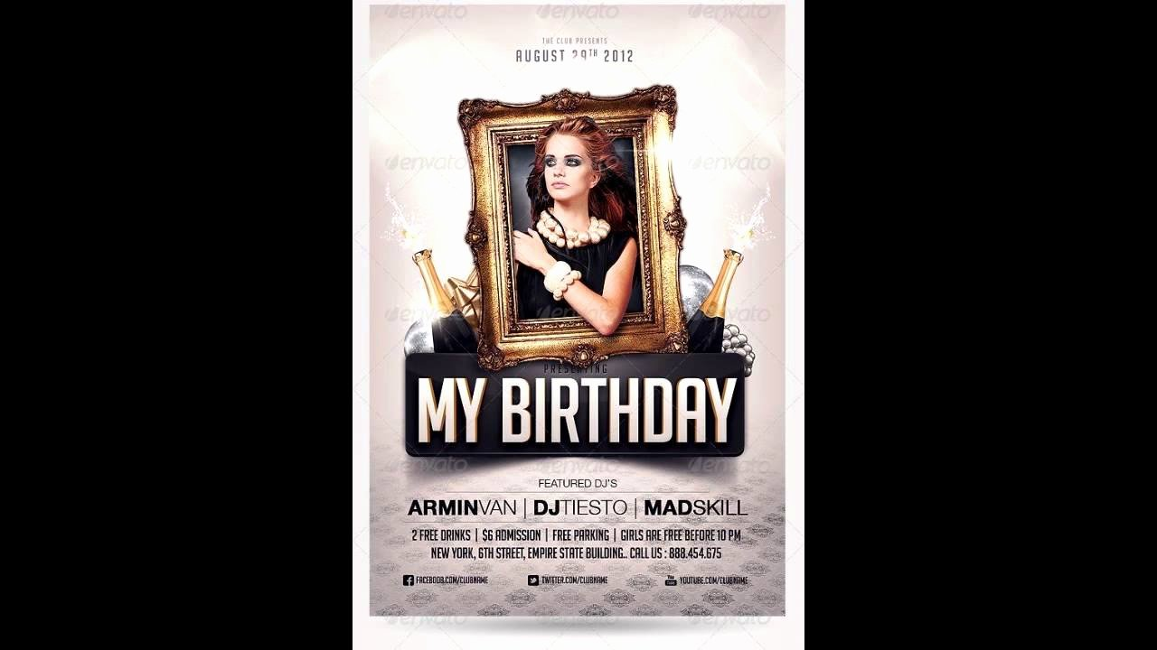 Birthday Party Flyer Template Beautiful Birthday Party Invitation Flyer Free Shop Template