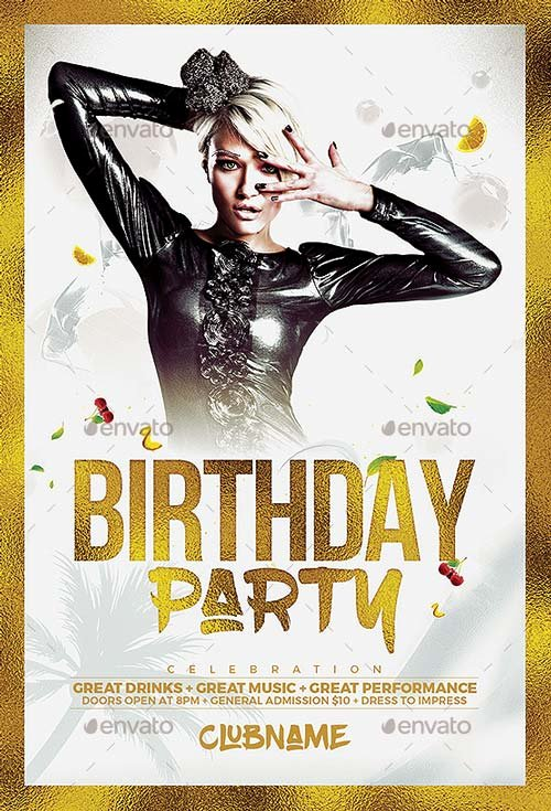 Birthday Party Flyer Template Best Of Best Of Birthday Flyer Templates Free and Premium Flyer