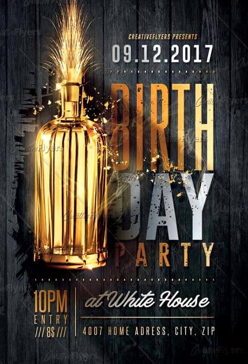 Birthday Party Flyer Template Best Of Birthday Party