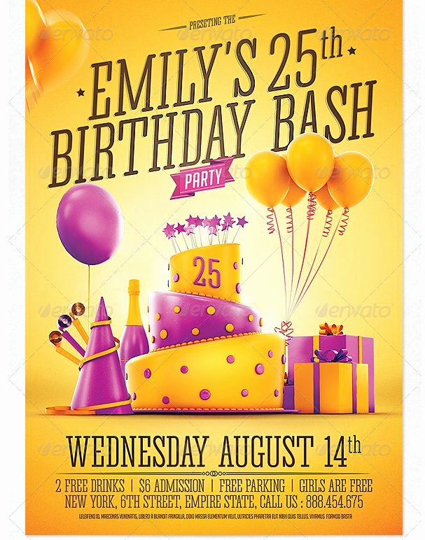 Birthday Party Flyer Template Elegant 26 Best Images About Birthday Party Flyer Template On