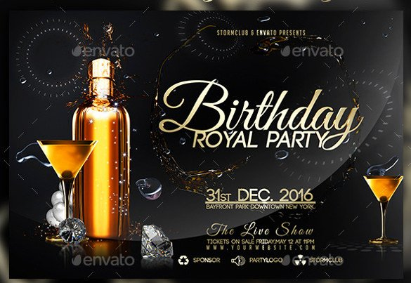 Birthday Party Flyer Template Elegant 43 Birthday Flyer Templates Word Psd Ai Vector Eps