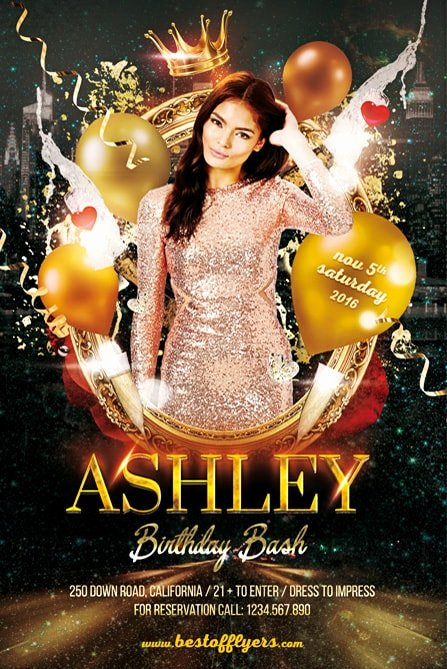 Birthday Party Flyer Template Fresh Birthday Bash Party Free Flyer Template