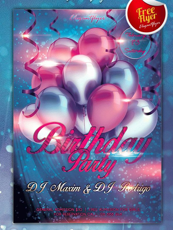 Birthday Party Flyer Template Inspirational 17 Free Birthday Invitation Templates Psd Designyep