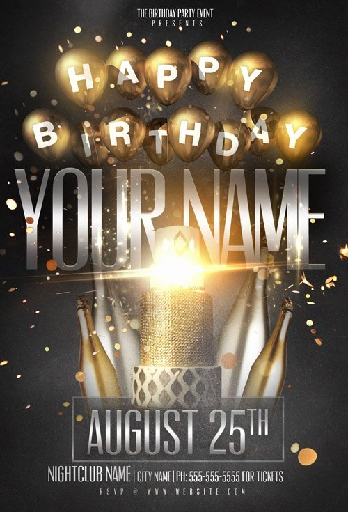 Birthday Party Flyer Template Inspirational Flyer Template Psd Birthday Name Party Heroturko
