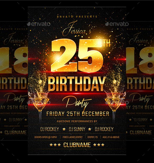 Birthday Party Flyer Template Luxury 43 Birthday Flyer Templates Word Psd Ai Vector Eps