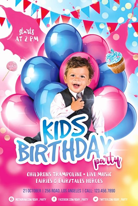 Birthday Party Flyer Template Luxury 70 Free Birthday Invite Templates In Psd Premium