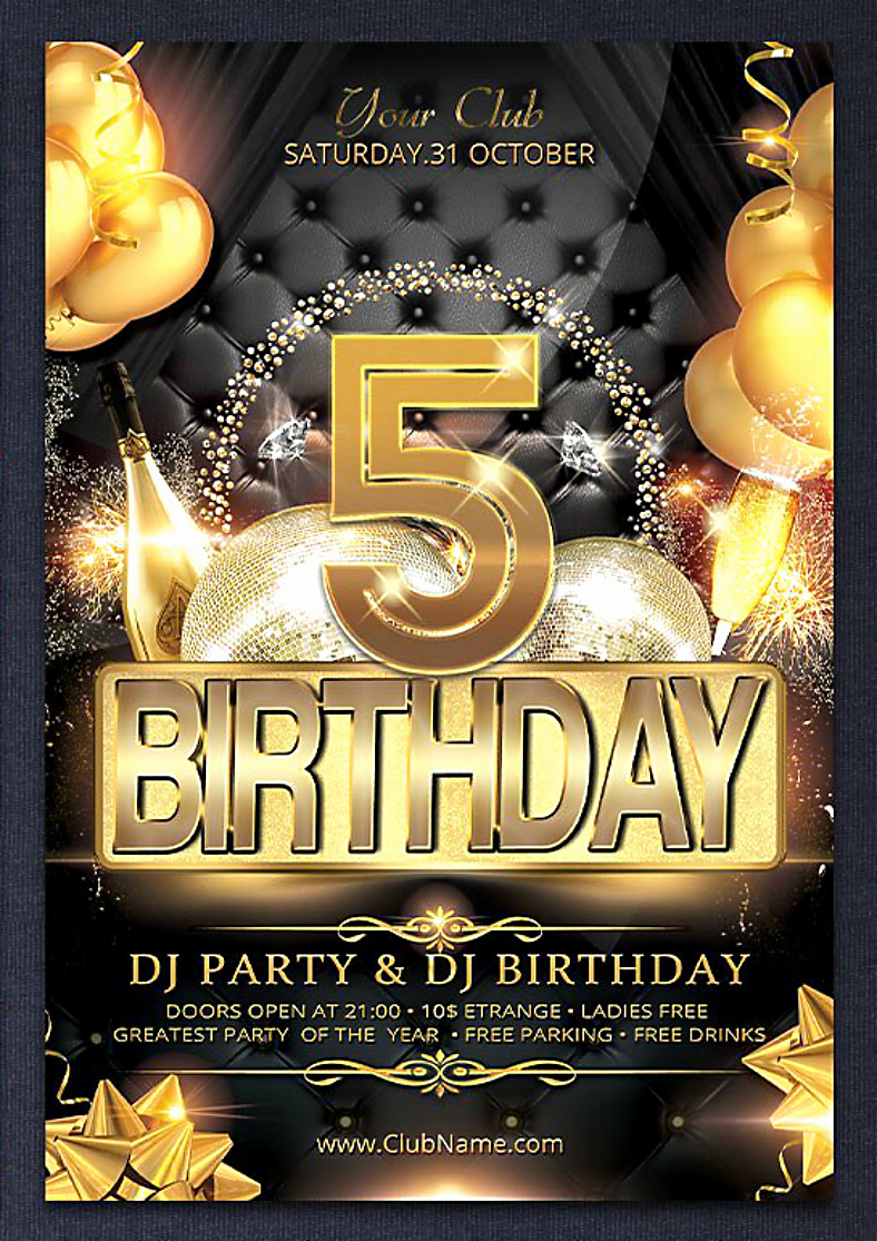 Birthday Party Flyer Template Unique 15 Anniversary Flyer Designs In Psd