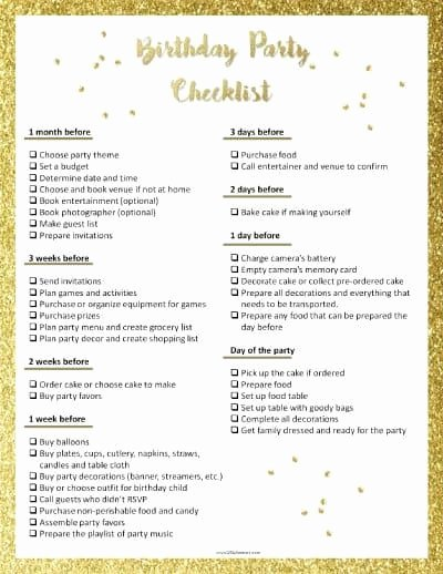 Birthday Party Planner Template Best Of Party Planning Template