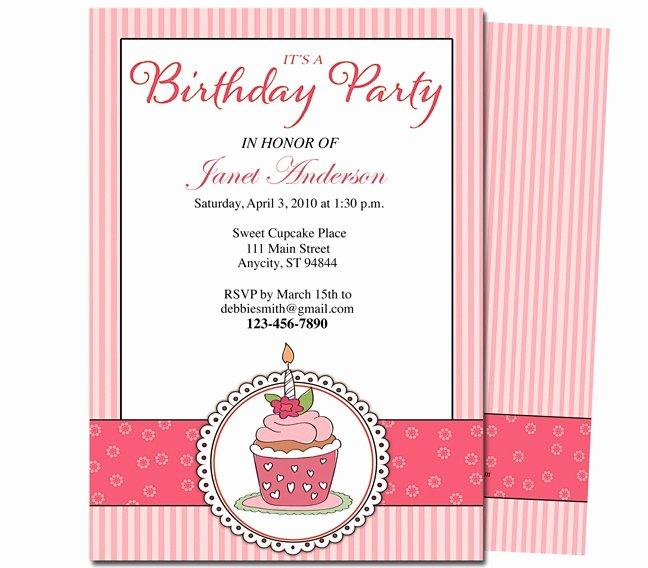 Birthday Party Program Template Fresh 23 Best Images About Kids Birthday Party Invitation