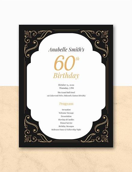 Birthday Party Program Template Lovely 12 Birthday Program Templates Pdf Psd