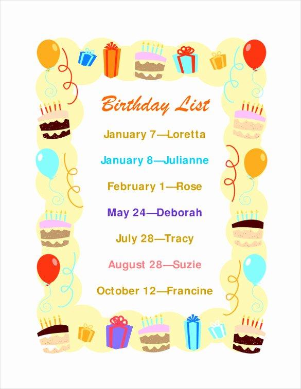 Birthday Wish List Template Best Of Birthday List Template – 12 Free Psd Eps In Design