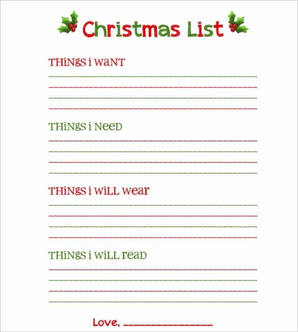 Birthday Wish List Template Elegant Birthday Wish List Template Printable – Best Happy