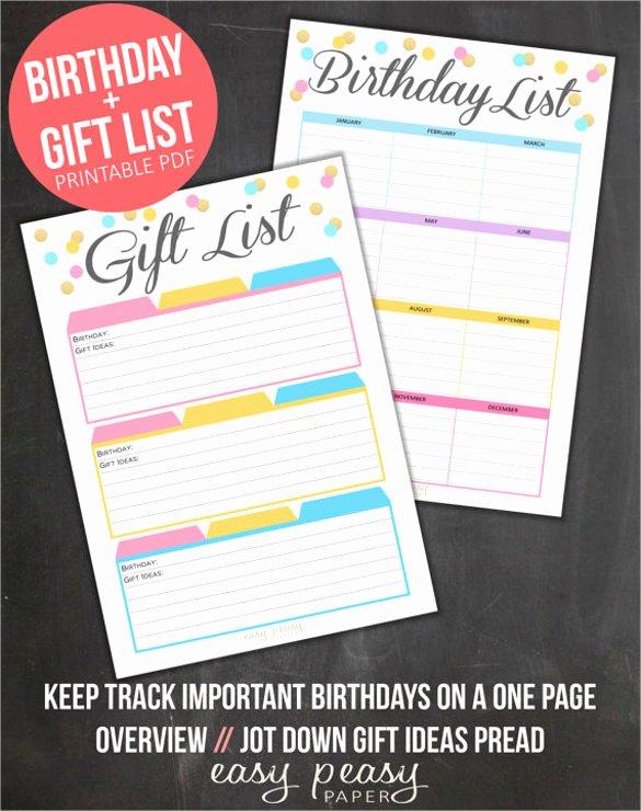 Birthday Wish List Template Inspirational Birthday List Template – 12 Free Psd Eps In Design