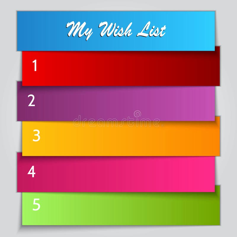 Birthday Wish List Template Unique Vector Gift Wish List Template Stock Image