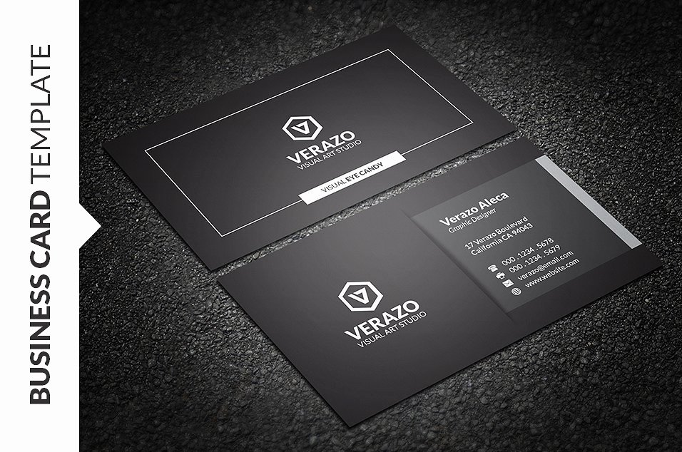 Black Business Card Template Awesome Modern Black & White Business Card Business Card